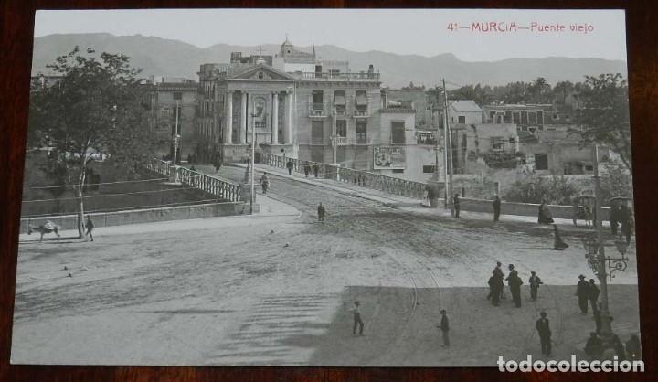 FOTO POSTAL DE MURCIA, PUENTE VIEJO, N. 41, ED. ANDRES FABERT, NO CIRCULADA. (Postales - España - Murcia Moderna (desde 1.940))