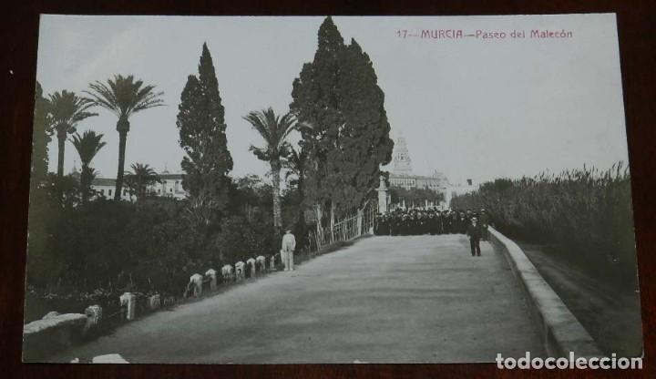 FOTO POSTAL DE MURCIA, N. 17, PASEO DEL MALECON, ED. FABERT, NO CIRCULADA. (Postales - España - Murcia Moderna (desde 1.940))