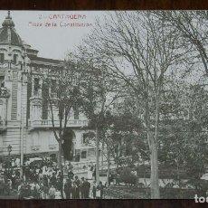 Postales: FOTO POSTAL DE CARTAGENA, PLAZA CONSTITUCION, N.2, ED. ANDRES FABERT, NO CIRCULADA.. Lote 173386252