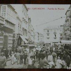 Postales: FOTO POSTAL DE CARTAGENA, PUERTA DE MURCIA, N.60, ED. ANDRES FABERT, NO CIRCULADA.. Lote 173386464
