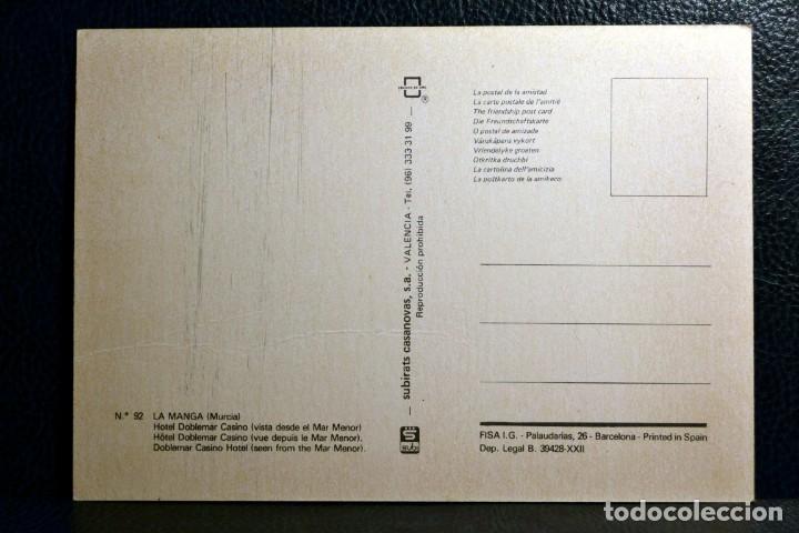 Postales: HOTEL DOBLEMAR CASINO - LA MANGA DEL MAR MENOR - MURCIA - Foto 2 - 174245953