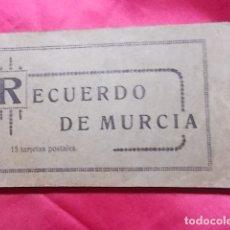 Postales: RECUERDO DE MURCIA.15 POSTALES. EDICIÓN MELERO. Lote 175555207