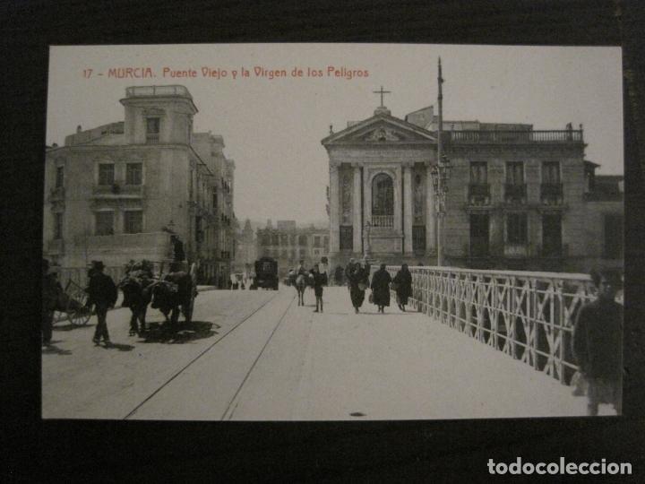 MURCIA-PUENTE VIEJO Y LA VIRGEN DE LOS PELIGROS-17-THOMAS-POSTAL ANTIGUA-VER FOTOS-(62.106) (Postales - España - Murcia Antigua (hasta 1.939))
