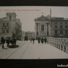 Postales: MURCIA-PUENTE VIEJO Y LA VIRGEN DE LOS PELIGROS-17-THOMAS-POSTAL ANTIGUA-VER FOTOS-(62.106). Lote 176015815