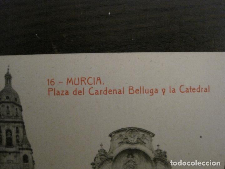 Postales: MURCIA-PLAZA DEL CARDENAL BELLUGA Y CATEDRAL-16-THOMAS-POSTAL ANTIGUA-VER FOTOS-(62.107) - Foto 2 - 176015894