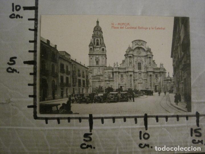 Postales: MURCIA-PLAZA DEL CARDENAL BELLUGA Y CATEDRAL-16-THOMAS-POSTAL ANTIGUA-VER FOTOS-(62.107) - Foto 4 - 176015894