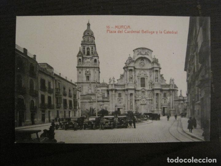 MURCIA-PLAZA DEL CARDENAL BELLUGA Y CATEDRAL-16-THOMAS-POSTAL ANTIGUA-VER FOTOS-(62.107) (Postales - España - Murcia Antigua (hasta 1.939))