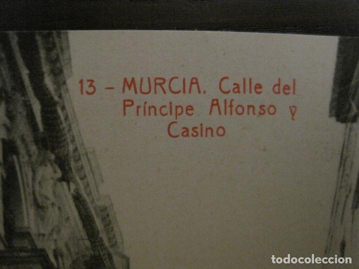 Postales: MURCIA-CALLE DEL PRINCIPE, ALFONSO Y CASINO-13-THOMAS-POSTAL ANTIGUA-VER FOTOS-(62.110) - Foto 2 - 176016247