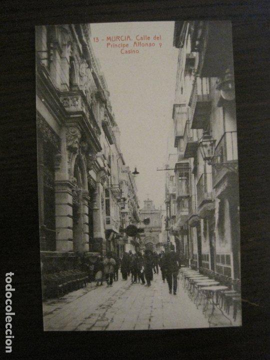 MURCIA-CALLE DEL PRINCIPE, ALFONSO Y CASINO-13-THOMAS-POSTAL ANTIGUA-VER FOTOS-(62.110) (Postales - España - Murcia Antigua (hasta 1.939))