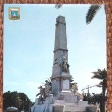 Postales: CARTAGENA - MONUMENTO A LOS HEROES DE CAVITE. Lote 177989202