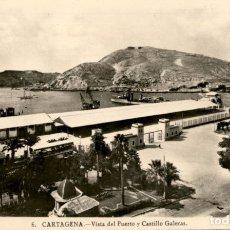 Cartes Postales: CARTAGENA – 6.- VISTA DEL PUERTO Y CASTILLO GALERAS – FOTO CASAU – 9X14 CMS – SIN CIRCULAR. Lote 178034127