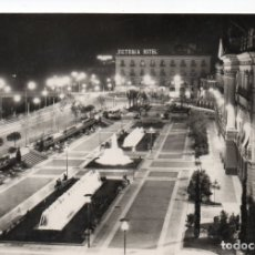 Postales: POSTAL DE MURCIA - GLORIETA ESPAÑA - VISTA DE NOCHE - AL FONDO HOTEL VICTORIA. Lote 178600855