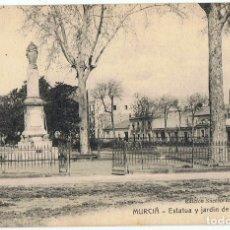 Postales: POSTAL MURCIA ESTATUA Y JARDÍN DE FLORIDABLANCA. Lote 178949685