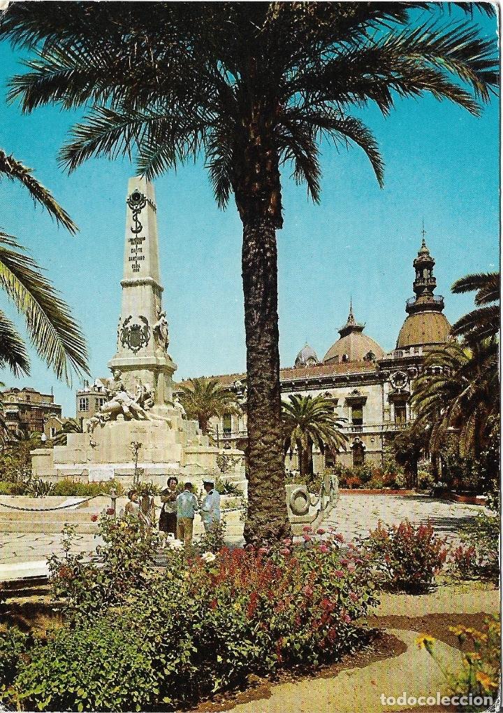 CARTAGENA, MONUMENTO A LOS HÉROES DE CAVITE - EDICIONES ARRIBAS Nº 2013 - ESCRITA 1964 (Postales - España - Murcia Moderna (desde 1.940))