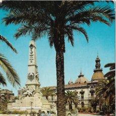 Postales: CARTAGENA, MONUMENTO A LOS HÉROES DE CAVITE - EDICIONES ARRIBAS Nº 2013 - ESCRITA 1964. Lote 180098592