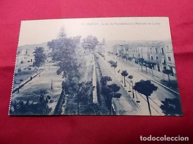 TARJETA POSTAL. 8. MURCIA. JARDIN DE FLORIDABLANCA Y ALAMEDA DE COLON. EDICIONES ROMERO (Postales - España - Murcia Antigua (hasta 1.939))