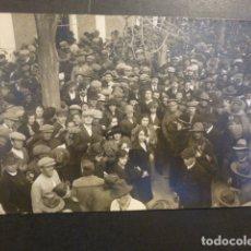 Postales: LORCA MURCIA POSTAL FOTOGRAFICA 1924 ESTACION DESPEDIDA MILITARES GUERRA MARUECOS MENCHON FOTOGRAFO. Lote 182172728