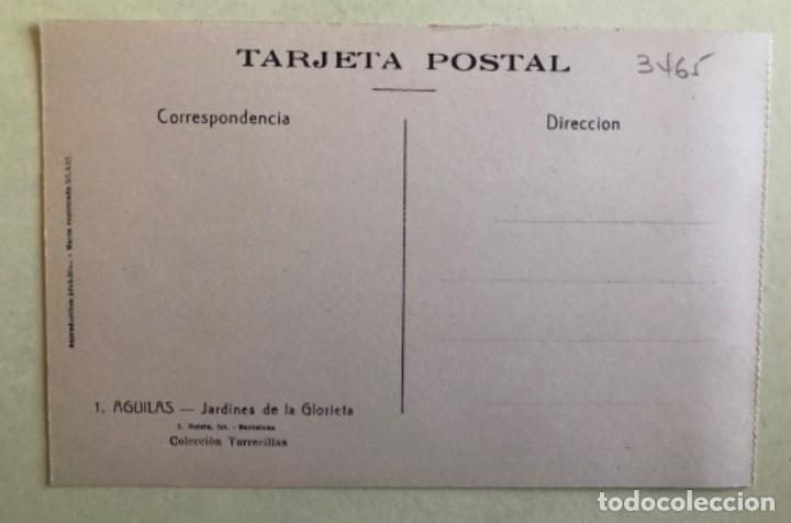 Postales: TARJETA POSTAL- AGUILAS- MURCIA COLECCION TORRECILLAS- JARDINES DE LA GLORIETA - Foto 2 - 182378462