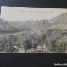 Postales: ABARAN MURCIA VISTA DE LA HUERTA Y RIO SEGURA FOTOGRAFO E. TEMPLADO PPDAD. A GOMEZ YELO. Lote 183696373