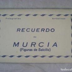 Postales: LIBRITO, 10 TARJETAS POSTALES - RECUERDO DE MURCIA - FIGURAS DE SALCILLO - FOTOGRAFÍAS ARTÍSTICAS. Lote 183842887