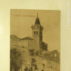 Postales: RARA YECLA MURCIA 4 IGLESIA DE SALVADOR FOTO RIPOLL ANIMADA. Lote 185879987
