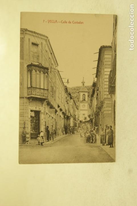 RARA YECLA MURCIA 7 CALLE DE CORBALAN FOTO RIPOLL ANIMADA (Postales - España - Murcia Antigua (hasta 1.939))