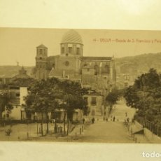 Postales: RARA YECLA 15 BAJADA DE S. FRANCISCO Y PARQUE MURCIA FOTO RIPOLL . Lote 185885316