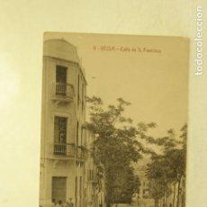 Postales: RARA YECLA 9 CALLE DE S. FRANCISCO MURCIA FOTO RIPOLL ANIMADA. Lote 185889976