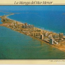 Cartoline: LA MANGA DEL MAR MENOR, VISTA PARCIAL AÉREA - SERIE VIDA Y COLOR - S/C. Lote 185900538