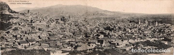 LORCA. VISTA PANORÁMICA. POSTAL DOBLE (Postales - España - Murcia Antigua (hasta 1.939))