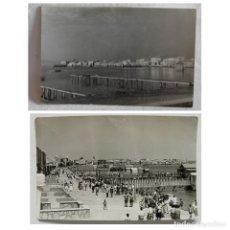 Postales: LOTE 2 POSTALES LOS ALCAZARES. PLAYA VISTA PARCIAL Y PASEO DE LA CONDESA. GALCA. CIRCA 1940. Lote 189740040