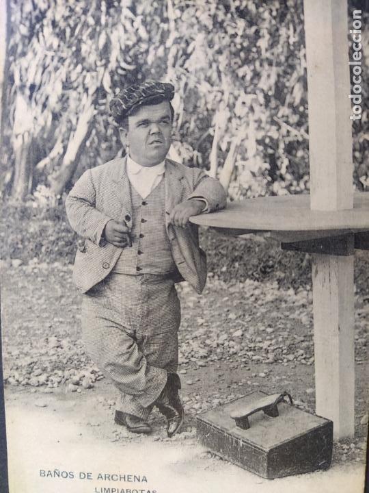 Postales: BAÑOS DE ARCHENA-MURCIA-LIMPIABOTAS-ENANO-CLICHE ACOSTA-REVERSO SIN DIVIDIR-POSTAL ANTIGUA-(65.768) - Foto 3 - 189892498