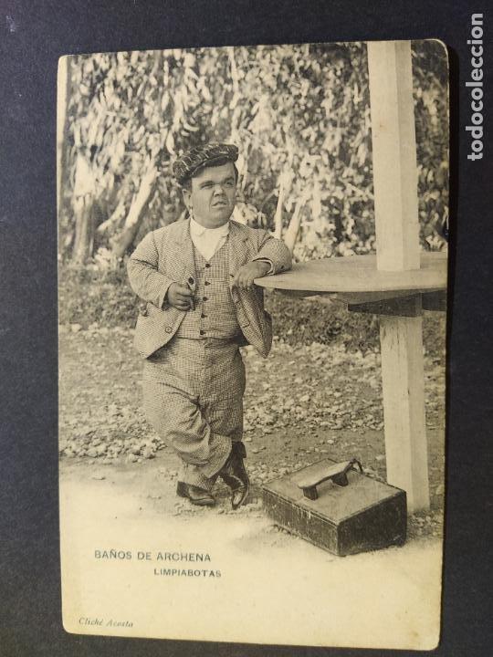 BAÑOS DE ARCHENA-MURCIA-LIMPIABOTAS-ENANO-CLICHE ACOSTA-REVERSO SIN DIVIDIR-POSTAL ANTIGUA-(65.768) (Postales - España - Murcia Antigua (hasta 1.939))