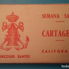 Postales: CARTAGENA SEMANA SANTA CALIFORNIOS MIERCOLES SANTO LIBRILLO POSTAL FOTOGRAFÍCA FOTOGRAFÍA CASAÚ. Lote 190474638