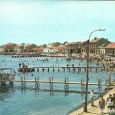 Postales: LOS ALCAZARES ( MURCIA ) , SU PLAYA Y EMBARCADEROS DE LOS AÑOS 60. Lote 190854636