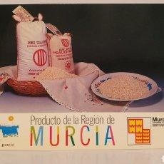 Postales: PRODUCTO DE LA REGIÓN DE MURCIA/ SIN CIRCULAR/ 10'5×15/ REF.A31. Lote 191218481