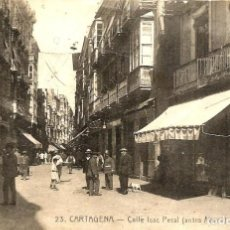 Postales: CARTAGENA. CALLE ISAAC PERAL.. Lote 191697210