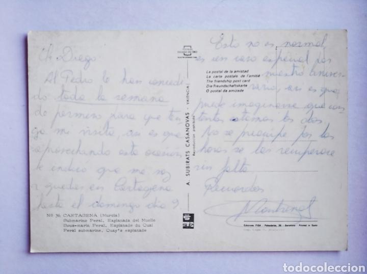 Postales: Postal Cartagena Murcia submarino Peral explada del muelle subirats casanovas - Foto 2 - 193193448