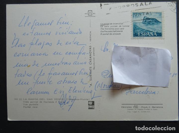 Postales: La Manga del Mar Menor, antigua postal circulada - Foto 2 - 194209938