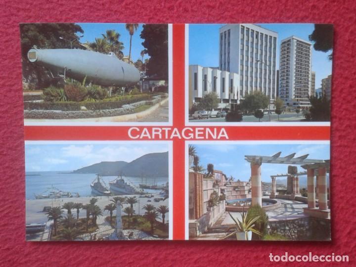 POSTAL POST CARD MURCIA CARTAGENA DIVERSAS VISTAS SUBMARINO.....CARTE POSTALE SPAIN ESPAGNE VER FOTO (Postales - España - Murcia Moderna (desde 1.940))