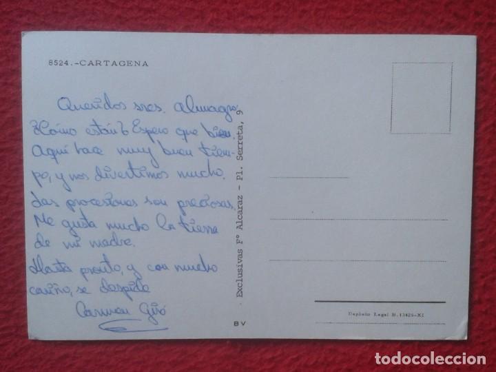 Postales: POSTAL POST CARD MURCIA CARTAGENA VISTAS SPAIN ESPAGNE SPANIEN Nº 8524 EXCLUSIVAS Fº ALCARAZ.....VER - Foto 2 - 194299337