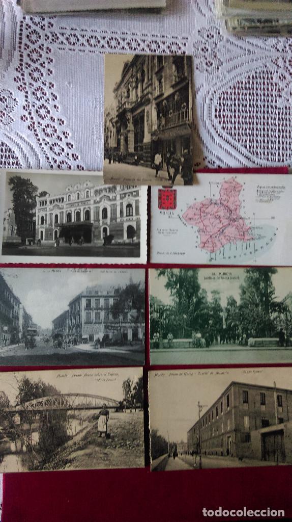 W.- 32.- LOTE DE - 7 - POSTALES DE -- MURCIA -- DIFERENTES LUGARES DE LA CIUDAD .- VER FOTOS (Postales - España - Murcia Antigua (hasta 1.939))