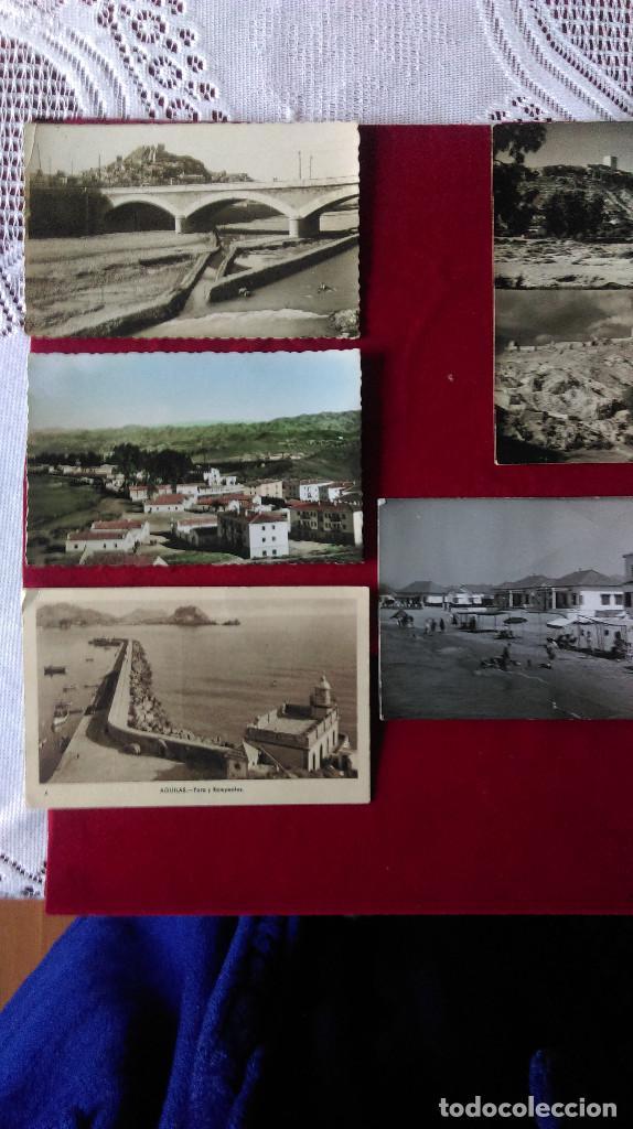 W.- 33.- LOTE DE - 5 - POSTALES DE .- AGUILAS, LORCA Y MAZARRON, DE LA PROVINCIA DE MURCIA , FOTOS (Postales - España - Murcia Antigua (hasta 1.939))