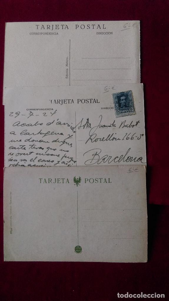 Postales: W.- 34.- LOTE DE -- 3 -- POSTALES DE --CARTAGENA -- VARIOS LUGARES DE LA POBLACION , VER FOTOS - Foto 5 - 194674622