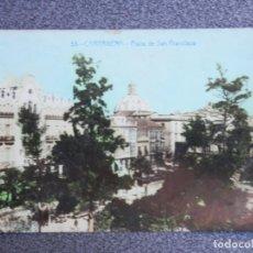 Postales: CARTAGENA PLAZA DE SAN FRANCISCO POSTAL FOTOGRÁFICA ANTIGUA. Lote 194947465