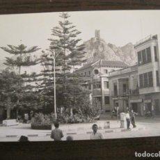 Postales: ALHAMA DE MURCIA-MERCERIA-PERFUMERIA-TABACOS...-FOTOGRAFIA ANTIGUA-TAMAÑO POSTAL-VER FOTOS-(68.055). Lote 195127425