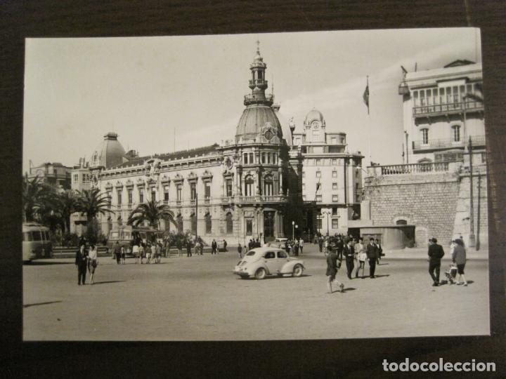 CARTAGENA-PLAZA DEL CAUDILLO Y AYUNTAMIENTO-ED·ARRIBAS-1013-POSTAL ANTIGUA-(68.156) (Postales - España - Murcia Antigua (hasta 1.939))