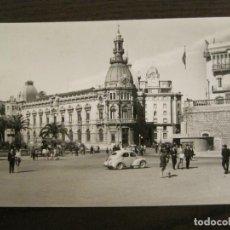 Postales: CARTAGENA-PLAZA DEL CAUDILLO Y AYUNTAMIENTO-ED·ARRIBAS-1013-POSTAL ANTIGUA-(68.156). Lote 195305746