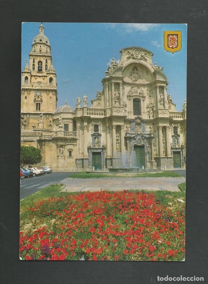 POSTAL SIN CIRCULAR - MURCIA 172 - CATEDRAL - EDITA ESCUDO DE ORO (Postales - España - Murcia Moderna (desde 1.940))
