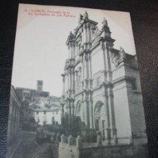 Postales: TARJETA POSTAL DE LORCA MURCIA - FACHADA DE LA EX COLEGIATA DE SAN PATRICIO Nº 8 THOMAS LUIS MONTIEL. Lote 195466631